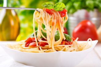 30033699 - plate of pasta with tomato sauce